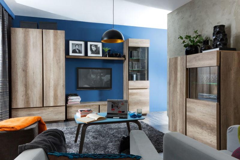 Modern nappali szekrénysor szép színekben